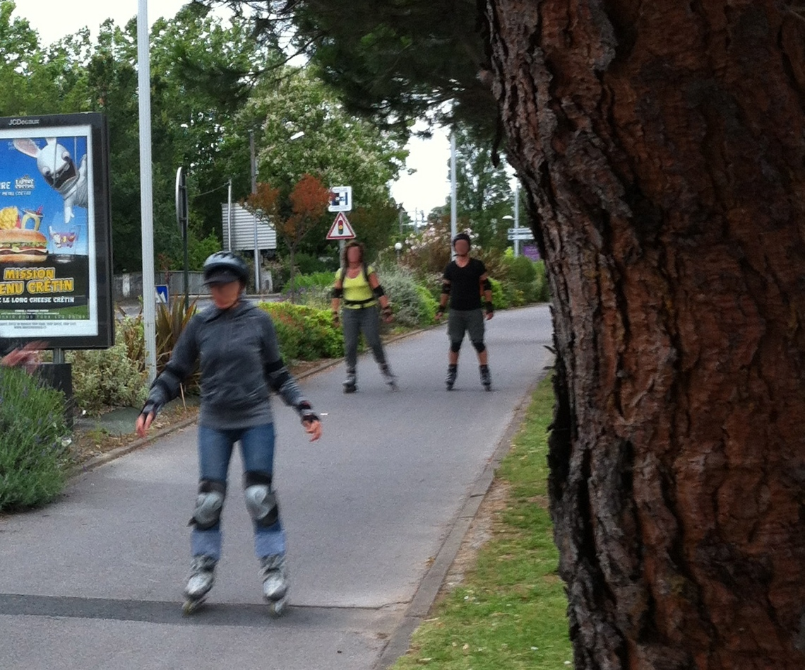 piste cyclable avenue Adour - Anglet - Bayonne (64)