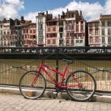 à vélo à Bayonne