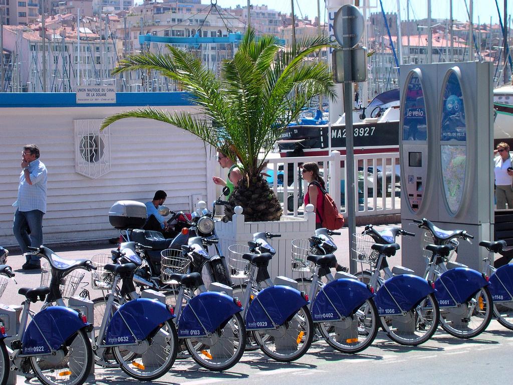 Plan des pistes cyclables de Marseille