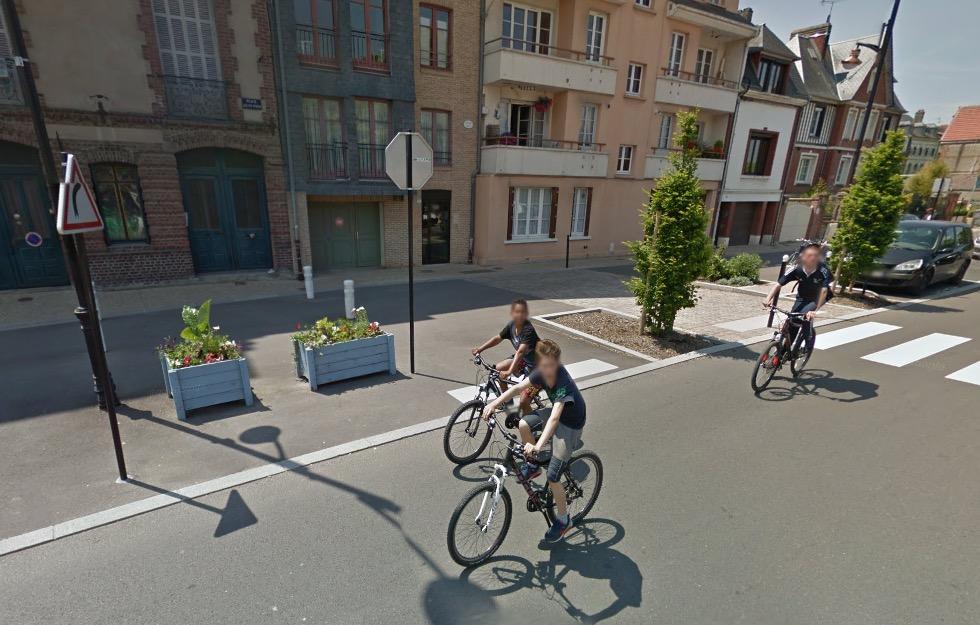 Carte des pistes cyclables de Honfleur (14)