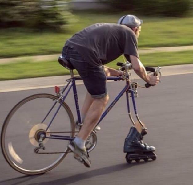 En vélo le système D c'est pas mal