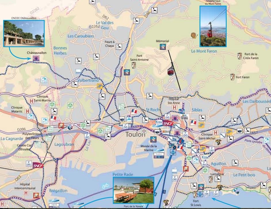 Les pistes cyclables de Toulon (83)