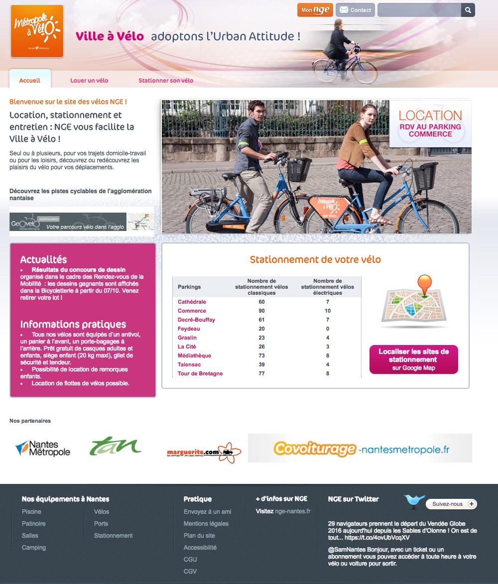 Plan des pistes cyclables à Nantes (44)