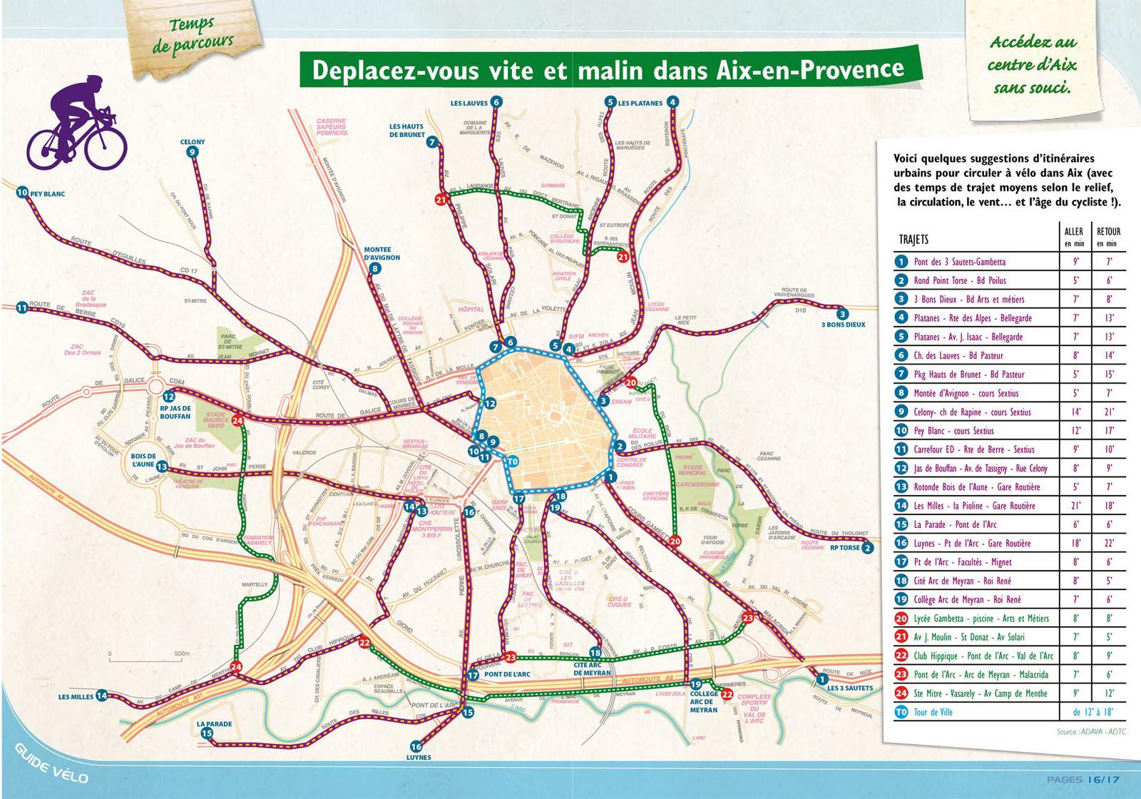 Les pistes cyclables d'Aix-en-Provence (13)