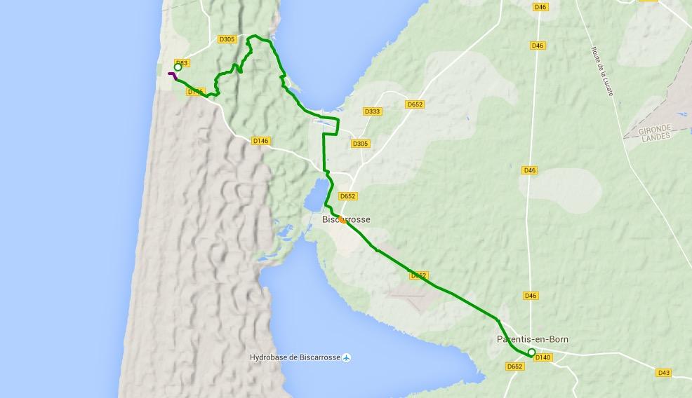 Décès sur la vélodyssée à Biscarosse (40)