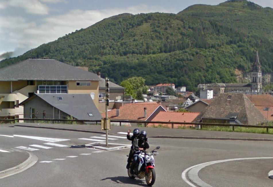 Carte des pistes cyclables de Lourdes (65)