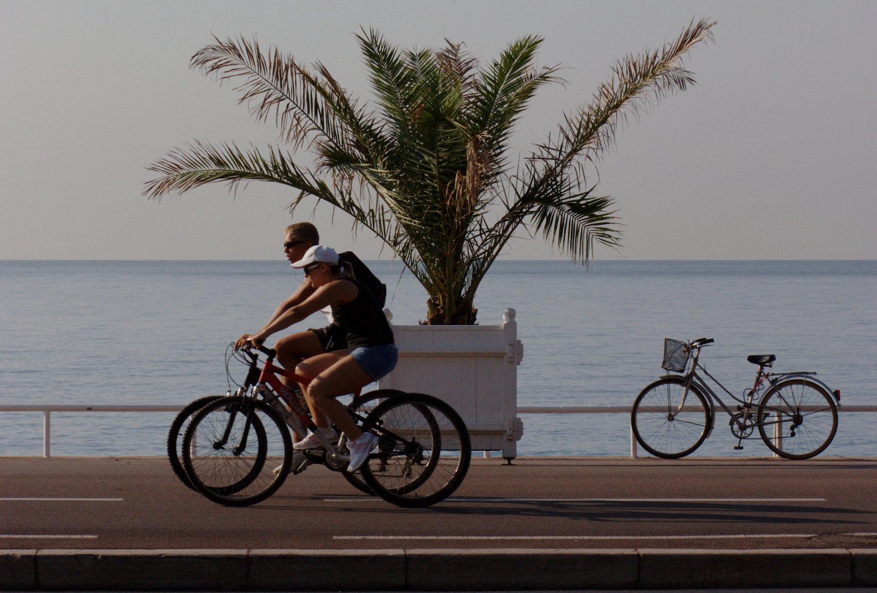 La carte des pistes cyclables de Nice (06)