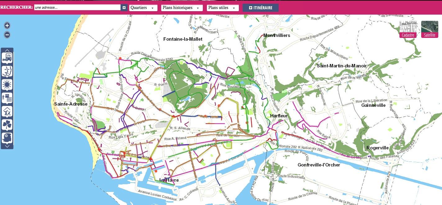 Le Havre (76) et ses pistes cyclables