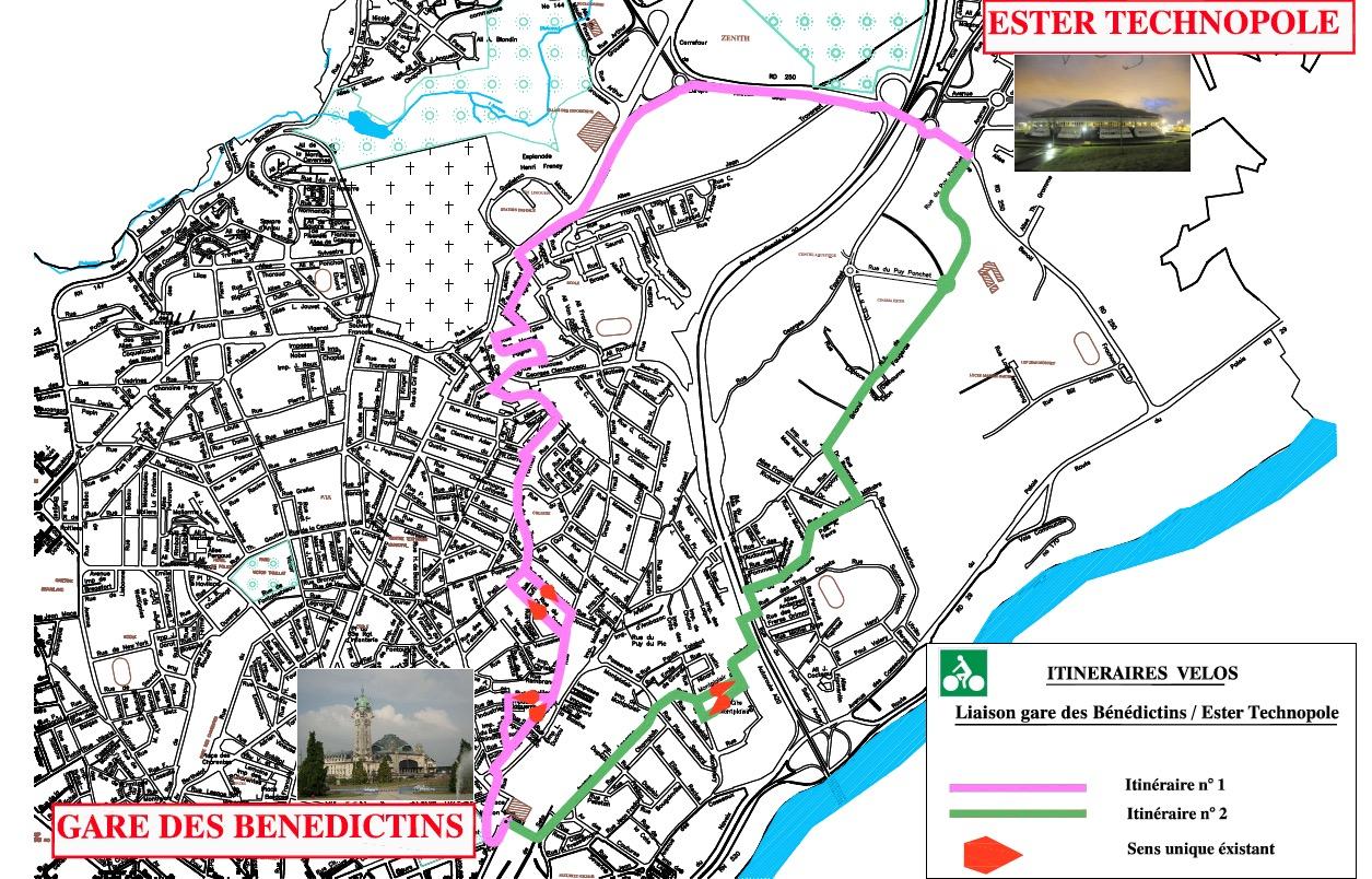 Les aménagements cyclables de l'agglomération de Limoges (87)