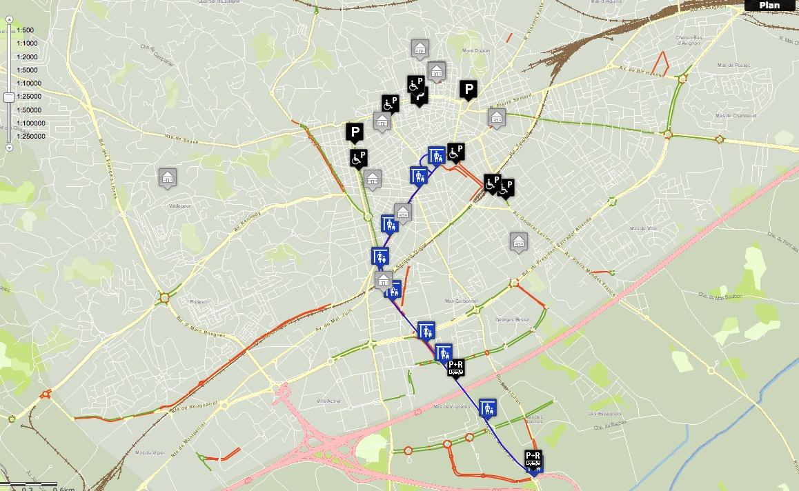 Les aménagements cyclables de Nîmes (30)