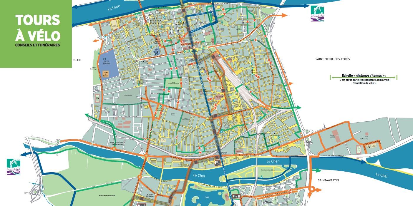 Les pistes cyclables de Tours (37)
