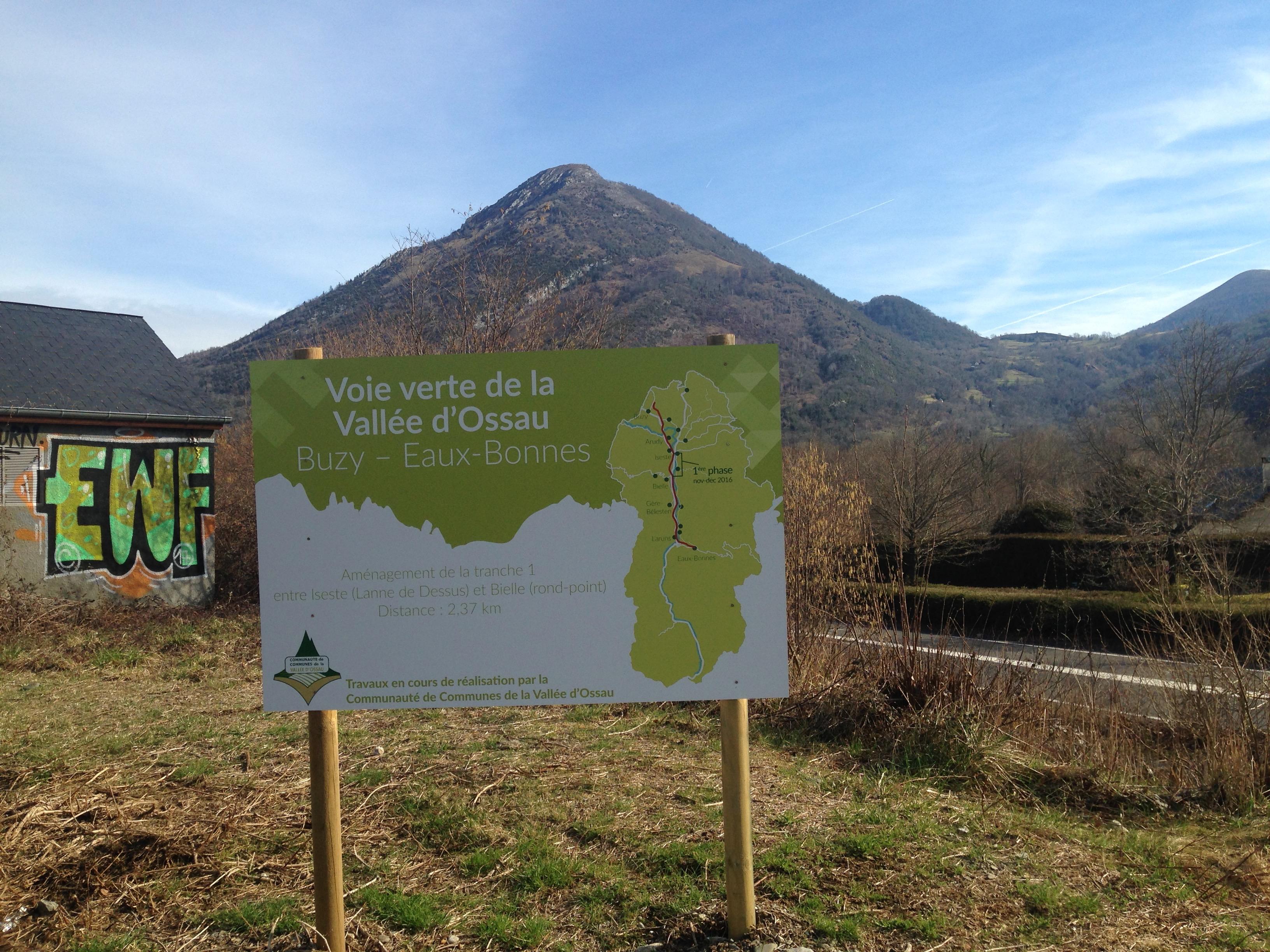 Voie verte de la Vallée d'Ossau – Louvie-Juzon (64)