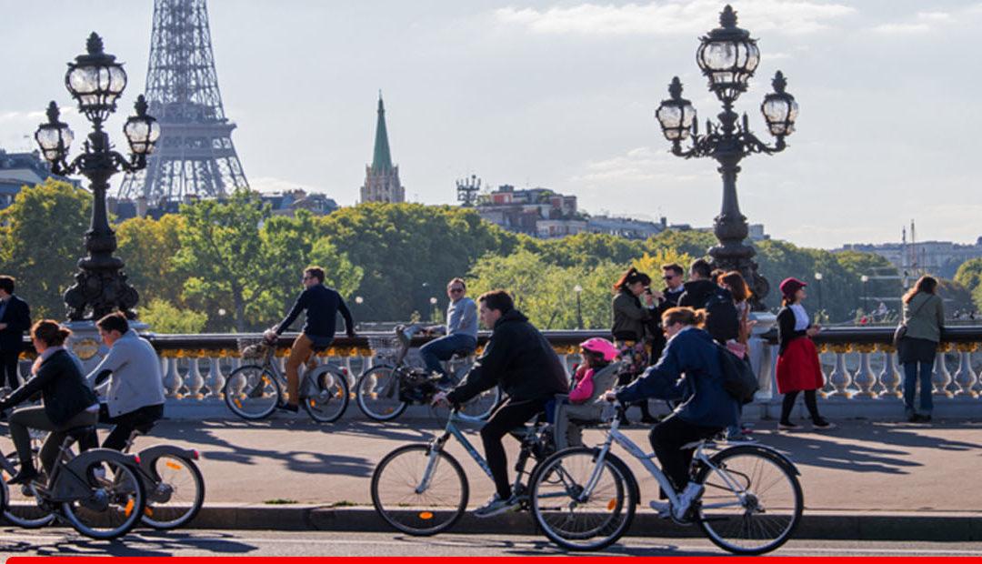 Plan des pistes cyclables de Paris