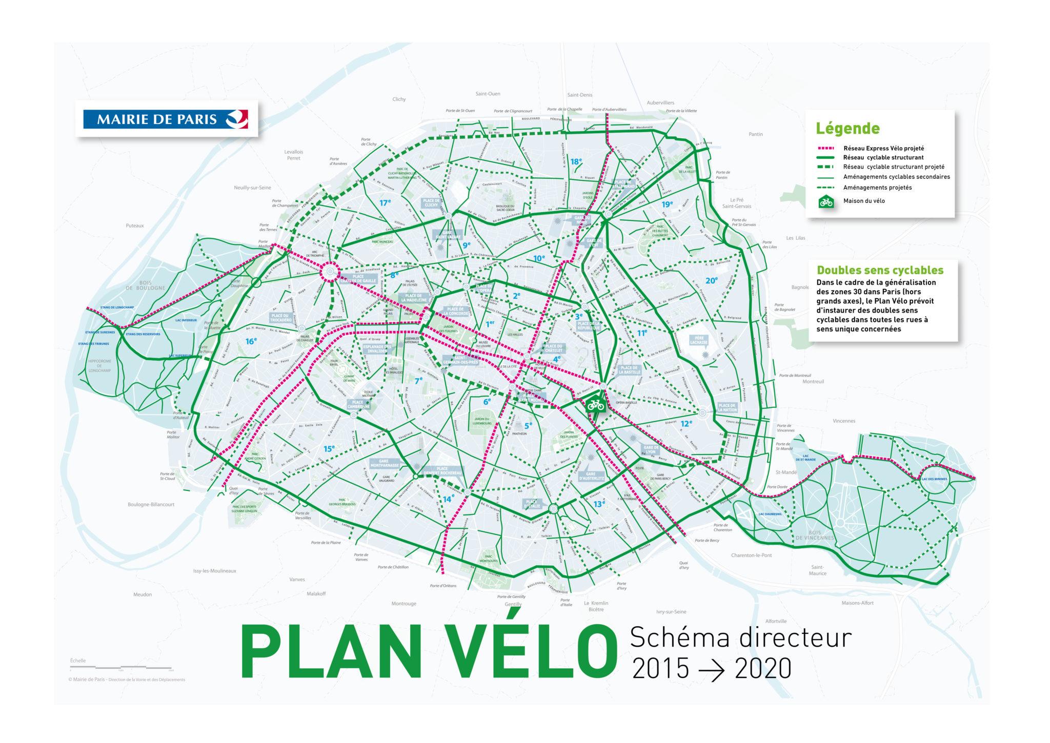 Plan Des Pistes Cyclables De Paris Pistes Cyclables