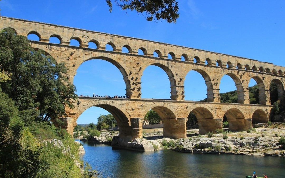 Sur le pont du Gard